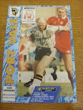 29/02/1992 Port Vale v Newcastle United  (creased). Condition: Listed previously
