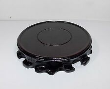 China wood round Pedestal Display stand For vase teapot incense burner 2.3 inch