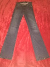 """7 For All Mankind """"the Skinny Bootcut"""" Dark Blue 26 X 34 Stretch Long Inseam"""