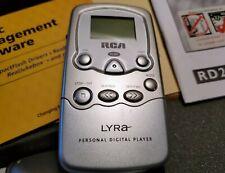 Vtg Rca Lyra personal digital player Rd-2201 in orig box Mp3 1999 w/ accessories