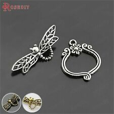 10 Sets Zinc Alloy Bracelet Clasps Dragonfly Toggle Clasps Findings Accessories