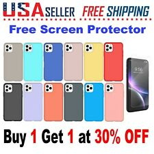 For Apple iPhone 11 / 11 Pro / 11 Pro Max Silicone Case Cover + Screen Protector