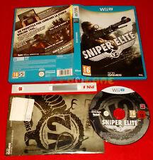 SNIPER ELITE V2 Nintendo Wii U WIIU Versione Italiana 1ª Ed  Vip New USATO - E6