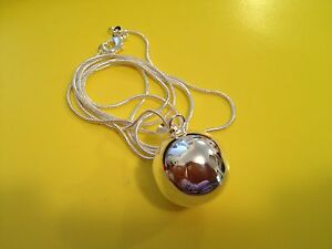 1x Pregnancy Angel Ringing Bell Harmony Ball 925 Silver Free Necklace 30 inches