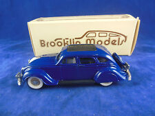 Brooklin Models BRK7 1934 Chrysler Airflow 4 Door Sedan in Blue Scale 1:43