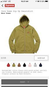 Supreme Gonz Ramm Zip Up Hoodie Moss Green Medium Rare Sold Out