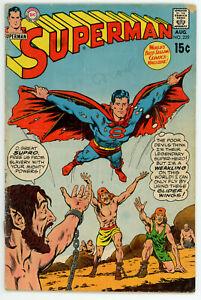 JERRY WEIST ESTATE: SUPERMAN #229 (VG) & WORLD'S FINEST COMICS #202 (VG) DC 1970