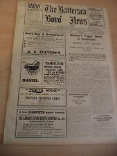 BATTERSEA BORO NEWS OLD ANTIQUE VINTAGE ORIG LONDON NEWSPAPER 1 may 1936 1930S