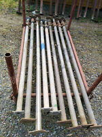 4m verzinkte Schwerlaststütze Deckenstütze Stahlstütze Baustützen Spriessen