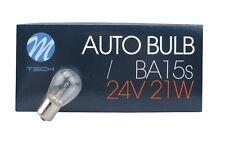 10 Stück 24V 21W P21W M-Tech Glühlampe Glühbirne Lampe Kugellampe  BA15s  B4240a
