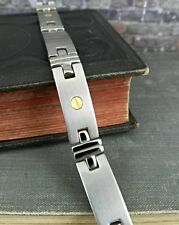 "Titanium & 18K Gold Rivet Hinged 9"" Bracelet"
