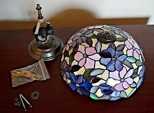 Floral REAL Stained Glass Ceiling Lamp Fixture - Elegant Stained Glass - L@@K