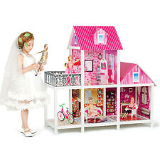 Kidcraft Dolls House Princess' Pink Little Villa With Furniture & Dolls Girls
