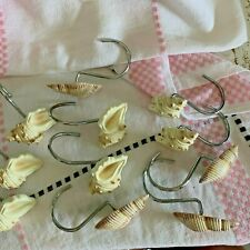 Seashells Shower Curtain Hooks ~  Replacement shells there are only 11