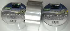 3 x SELF ADHESIVE ALUMINIUM FOIL TAPE SILVER ELECTRIC HEAT REFLECTOR PIPE REPAIR
