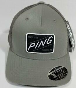 PING FlexFit Tech 110 One Ten Grey Phoenix AZ Snapback Golf Hat Cap NEW