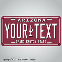 Arizona Custom Personalized 70s 80s YOUR TEXT  Aluminum License Plate Tag New
