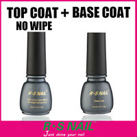 RS Nail Gel Polish Top it Off Top Coat and Foundation Base Coat UV LED Varnish