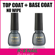 RS Nail Gel Polish Top it Off Top Coat and Foundation Base Coat UV LED Varnish