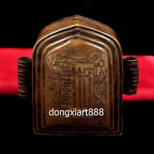 Tibet red copper niche for Buddha green tara guanyin Amulets shrine Pendant box