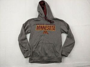 Champion Minnesota Golden Gophers Hoodie Adult Small Men Gray Red Pullover
