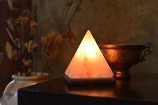 Natural Himalayan Pyramid Salt Lamp Ionic Air Purifier Rock Crystal Night Light.