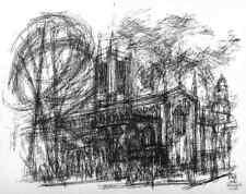 LONDON - St.MARGARET´S CHURCH - Anton WATZL - Original Serigraphie 1967