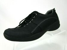 Clarks Women Shoes Size 9.5 M Black Walking Leather Lace Up Comfort Sneakers