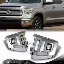 For 2014-2016 Toyota Tundra LED Divine Halo Projector Bumper Fog Lights Lamp Set