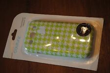 Galaxy S3 S III Houndstooth phone case cover lime green white samsung NEW