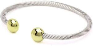 "NEW QRAY Combo Deluxe Surgical Steel Bracelet Golf Wellness Medium 7 - 7.75"""