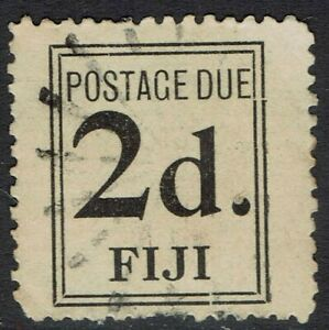 FIJI 1917 POSTAGE DUE 2D WIDE SETTING USED