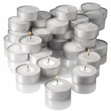 Wax Tea Light Candle (White) Smokeless Mombatti Home Decor - Set of 50 Candles