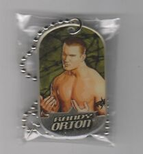 RANDY ORTON Topps WWE 2007 'UK Exclusive' Two Sided Dog Tag & Chain RARE! RKO