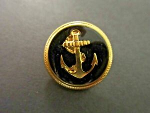 Lot of 8 Large Navy Anchor Button Brass & Black Enamel Jacket Coat Blazer 23mm