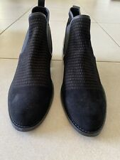 Hush Puppies Black Suede Ankle Boot Size 9 RRP $159.85