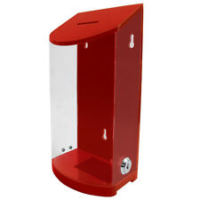 Acrylic Red Wall Donation Charity Box Suggestion Box With Lock And 2 Keys 02