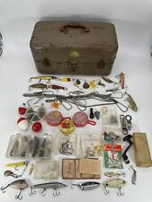 Antique Watertite Union Chests Tackle Box W/ Tons of Vintage Lures Rare Fishing