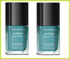 2x CoverGirl Outlast Stay Brilliant Nail Gloss  #Constant Caribbean #290 11ml