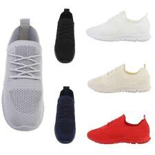 Scarpe donna sneakers sportive basse tela elasticizzate leggere lacci da corsa