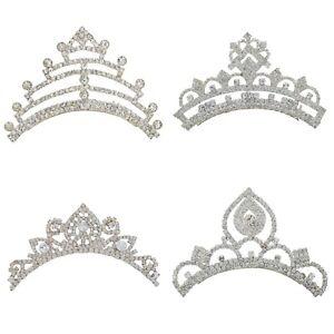 Bridal Princess Crystal Tiara Crown Veil Hair Accessory Express Shipping