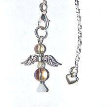 PRETTY OPALITE & RAINBOW AURA CRYSTAL ANGEL PENDULUM