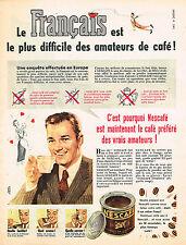 PUBLICITE ADVERTISING 035  1956  NESCAFE   café soluble