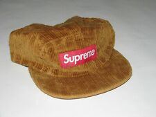 SUPREME NY Rope Corduroy Camp Cap BROWN Hat Adjustable NEW S/S 2019 USA Made!
