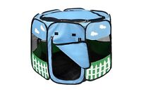 Indoor Pet Dog Cat Tent Playpen Exercise Play Pen Sleep Soft Crate Bed Enclose