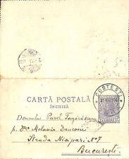 PHILATELIE ROUMANIE ROMANIA CARTE LETTRE ENTIER POSTAL 1906