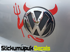 VW Devil, Volkswagen Sticker for badge Polo, Golf, Touran, Choice of 16 colours