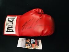 Mike Tyson Autographed/Signed Red Everlast Right Hand Glove JSA AUTO CERTIFIED
