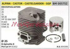 Pistón Cilindro Segmentos Alpina Motor Cortador de Cepillo 22 26 31 Sb 28 005752