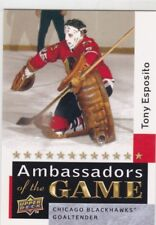 TONY ESPOSITO 2009-10 UPPER DECK 2 AMBASSADORS OF THE GAME SP #AG53 CHICAGO